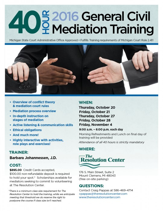 General Civil Mediation Training 2016