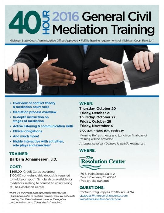 General Civil Mediation Training 2016