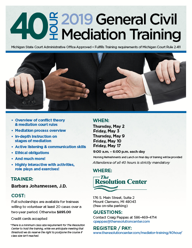 40-Hour General Civil Mediation Training