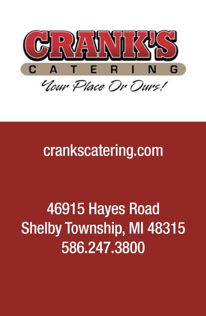 Vendor: Crank's Catering