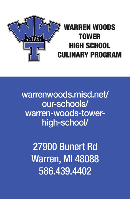 Vendor: Warren Woods Tower High School Culinary Program